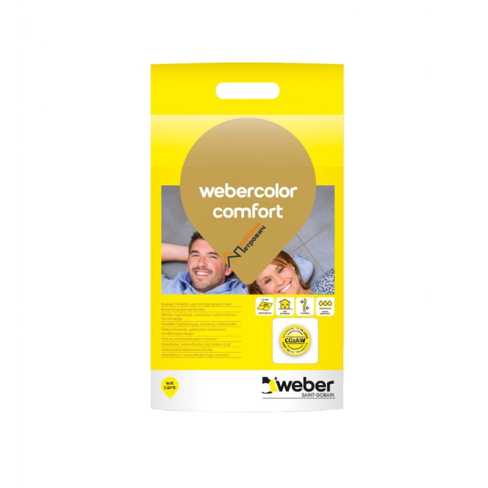 Затирка для плитки Weber comfort (2 кг) - цена, отзывы, характеристики на стройбазе «Петрович Харьков»