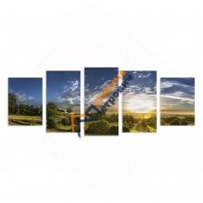 Модульна фотокартина на полотні «Захід»