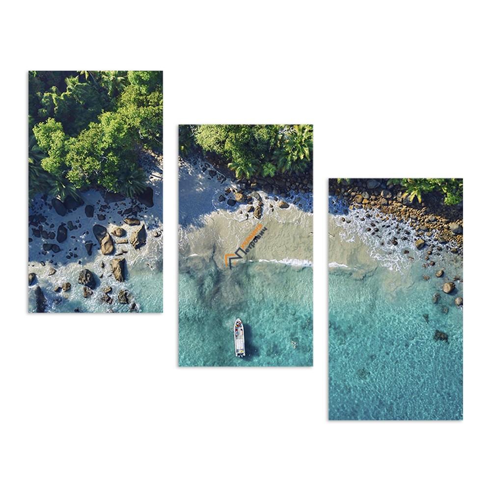Модульная фотокартина на холсте «Тропический берег» - цена, отзывы, характеристики на стройбазе в Киеве и Харькове
