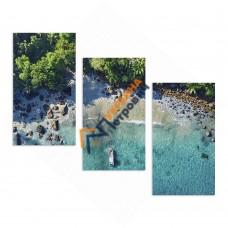 Модульна фотокартина на полотні «Тропічний берег»