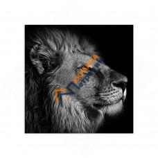 Самостоятельный сегмент модульной картины «Лев»