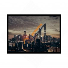 Постер в рамке формата А4 - «Шанхай»