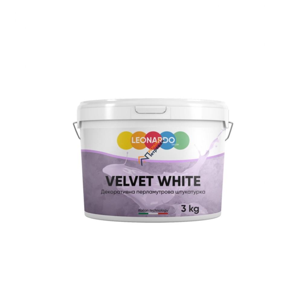 Декоративная штукатурка Leonardo Velvet White (3 кг) - цена, отзывы, характеристики на стройбазе в Киеве и Харькове